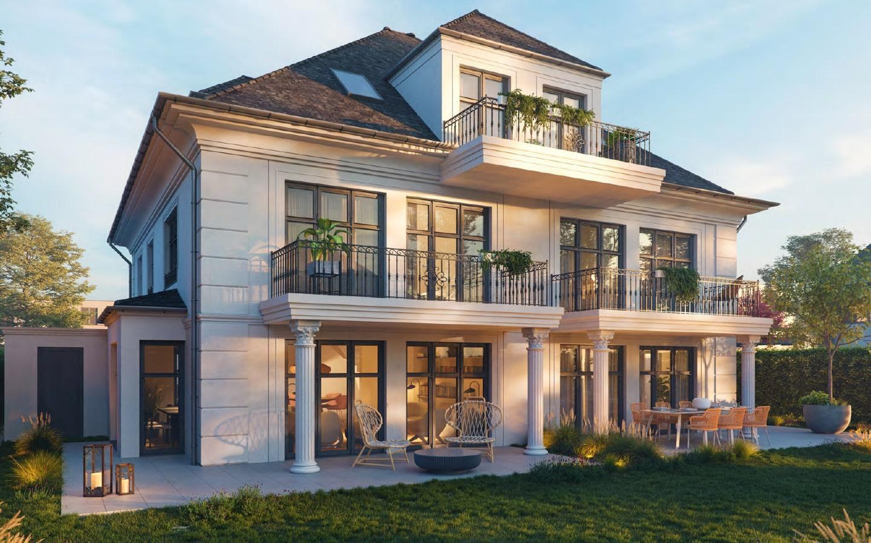 Villenhälfte in klassischer Architektur 21,21 m² – Mächtel ...
